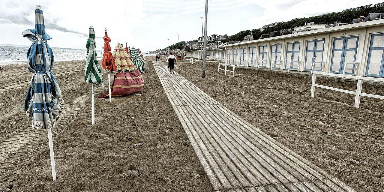La plage de Trouville - Illustration © Pixabay