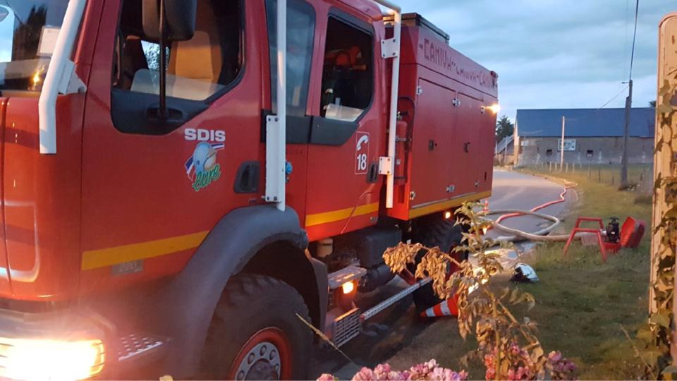 Vingt-quatre sapeurs-pompiers sont intervenus sur le lieu du sinistre - Illustration @ Infonormandie
