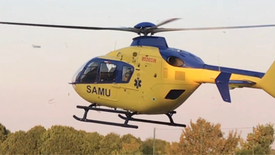 La victime a été évacuée vers le CHU de Rouen à bord de l'hélicoptère du SAMU 76 - Illustration © infonormandie