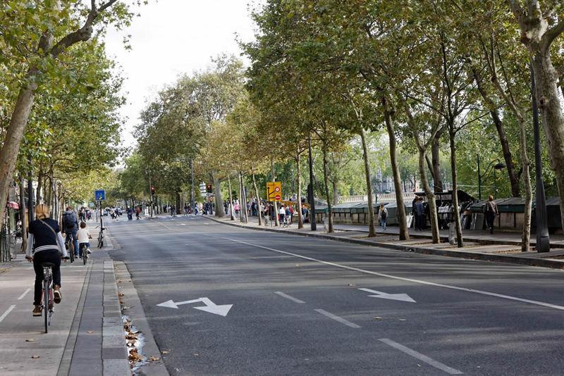 Seuls les vélos, trottinettes, rollers et autres véhicules sans moteur seront autorisés à circuler  - Photo extraite du site Paris.fr,