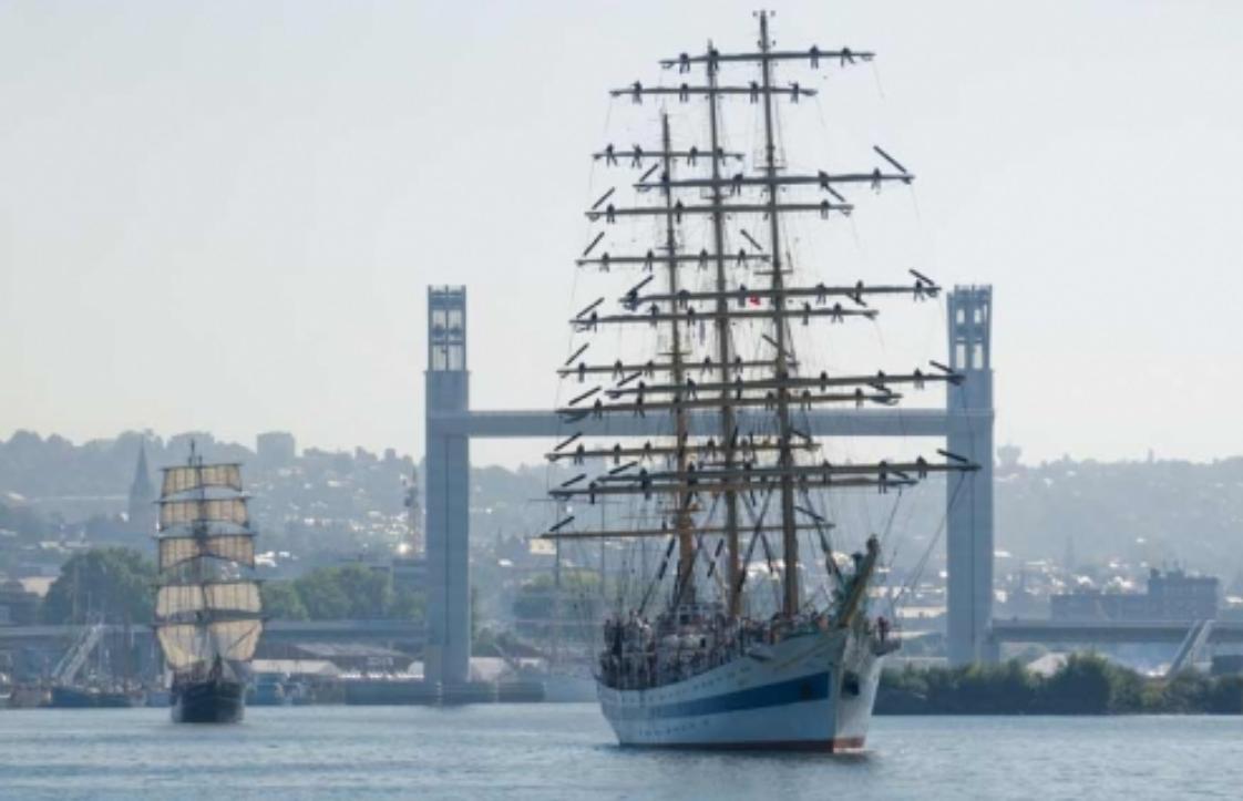Le navire-école russe sera à Rouen du dimanche 7 au dimanche 14 octobre 2018 - Illustration © D.R.