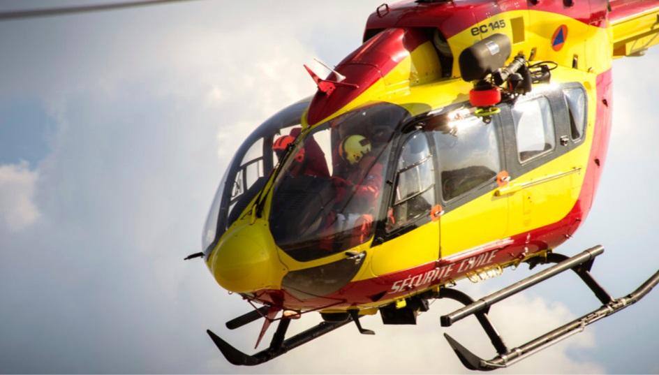 L'intervention de l'hélicoptère de la sécurité civile a été nécessaire pour dégager le corps - Illustration