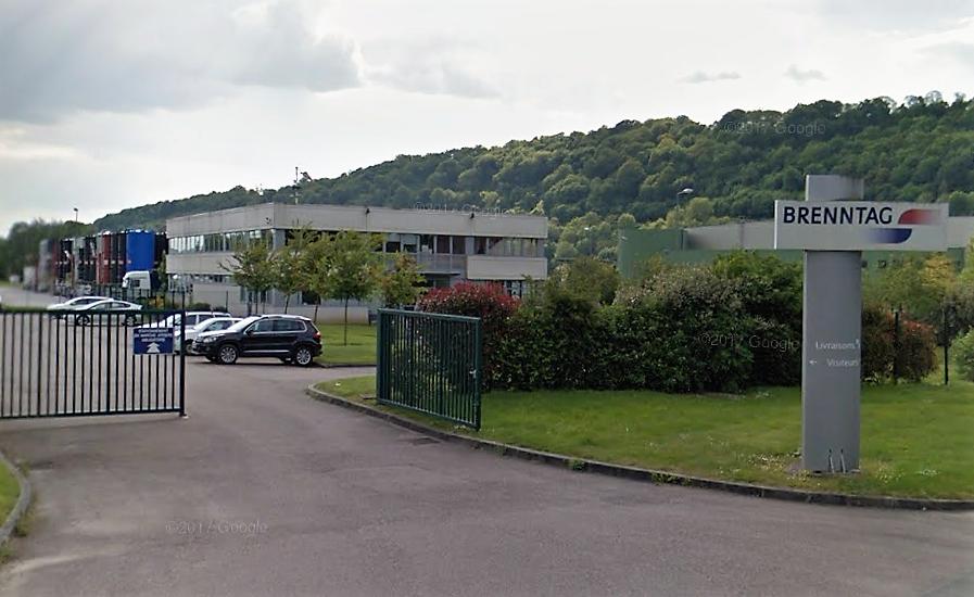 L'usine Brenntag-Normandie est classée Seveso seuil haut  Illustration © Google Maps