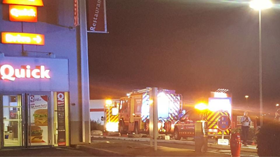 D'importants moyens sont mobilisés ce soir par les sapeurs-pompiers - Photos © A. L. / infonormandie