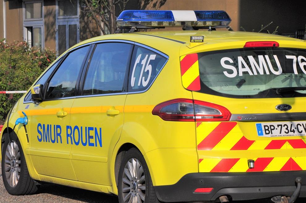 La victime a été prise en charge par le SAMU et admis en réanimation au CHU de Rouen - Illustration © infonormandie