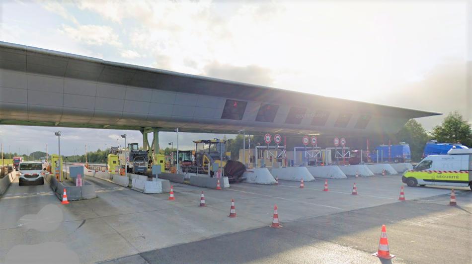 La barrière de péage d'Epretot, sur l'A29 - Illustration © Google Maps