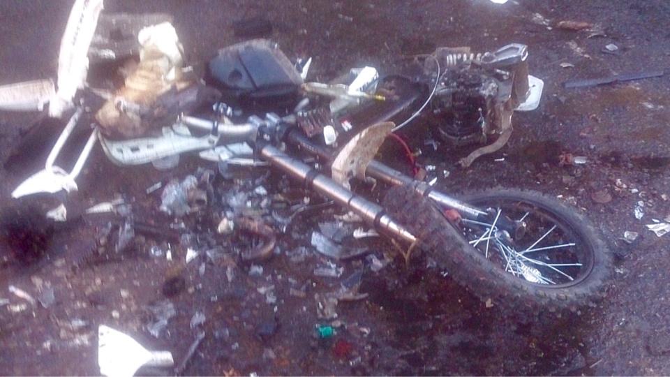 La moto a été détruite sur instruction du parquet d'Evreux