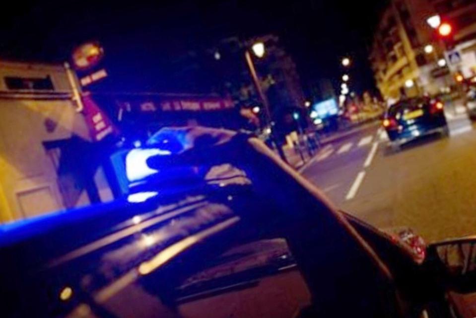 Après une longue et dengereuse course-poursuite dans les rues de Canteleu, le fuyard a été piégé dans une rue sans issue près du Kindarena - Illustration