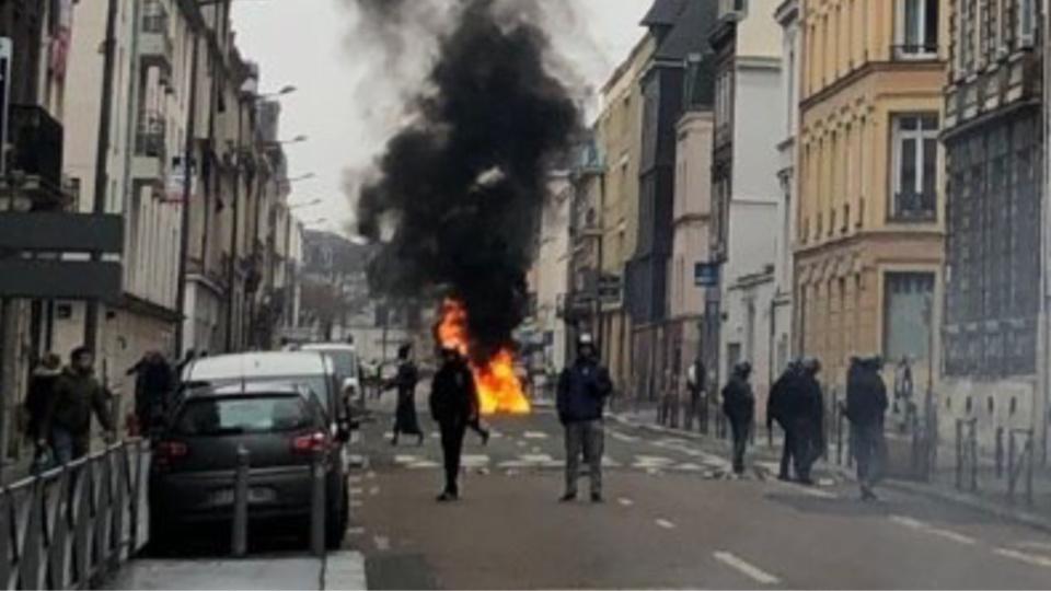 De nouveaux heurts sont à craindre pour cet acte X à Rouen - illustration @ DDSP76 / Twitter