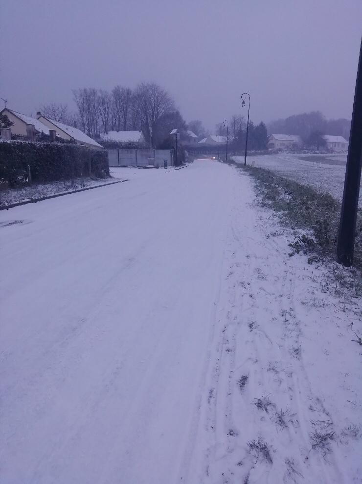 De la neige et du verglas sont attendus sur les routes de l'Eure ce mercredi - Illustration © infonormandie