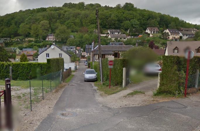 Le sentier du Bois-des-Dames - illustration @ Google Maps