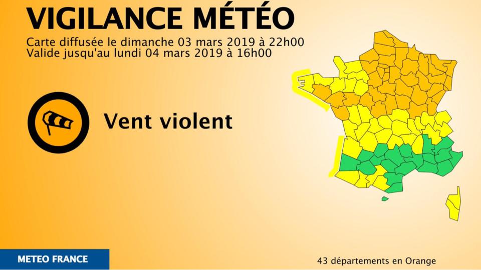 La Seine-Maritime et l'Eure placés en vigilance orange «vent violent»