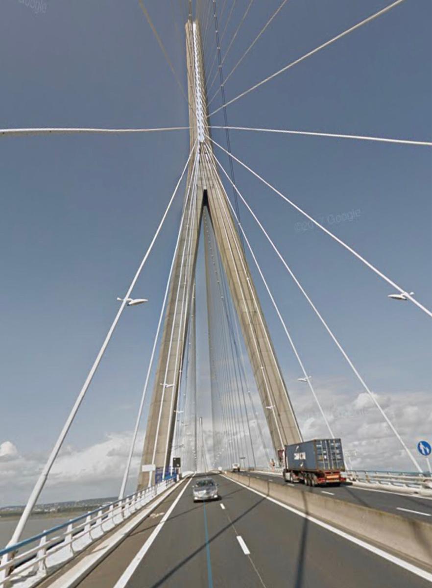 Des pointes de vent de 100 km/h  enregistrées sur le pont de Normandie