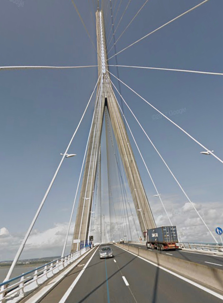 Vents forts : restriction temporaire de circulation sur le Pont de Normandie