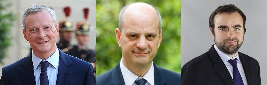 Bruno Le Maire, Jean-Michel Blanquer et Sébastien Lecornu - Photos © Gouvernement.fr