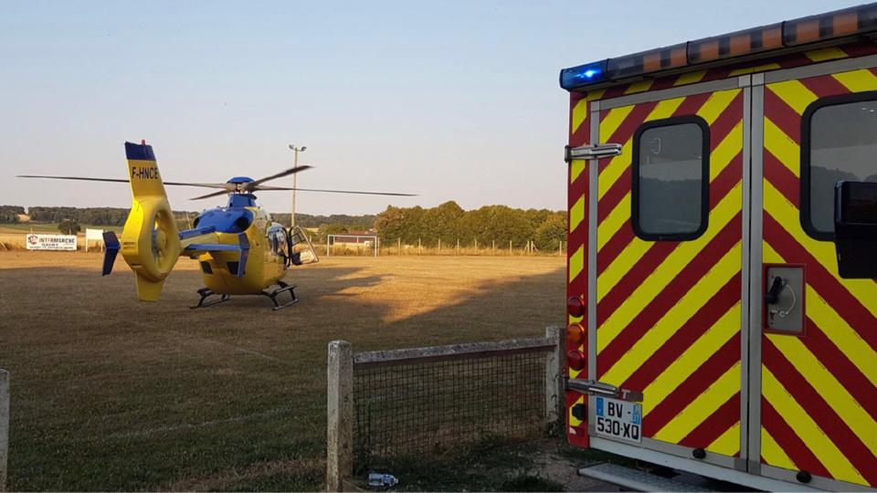 Les blessés graves ont été héliportés par l'hélicoptère du SAMU76 vers le CHU de Rouen - Illustration © infonormandie