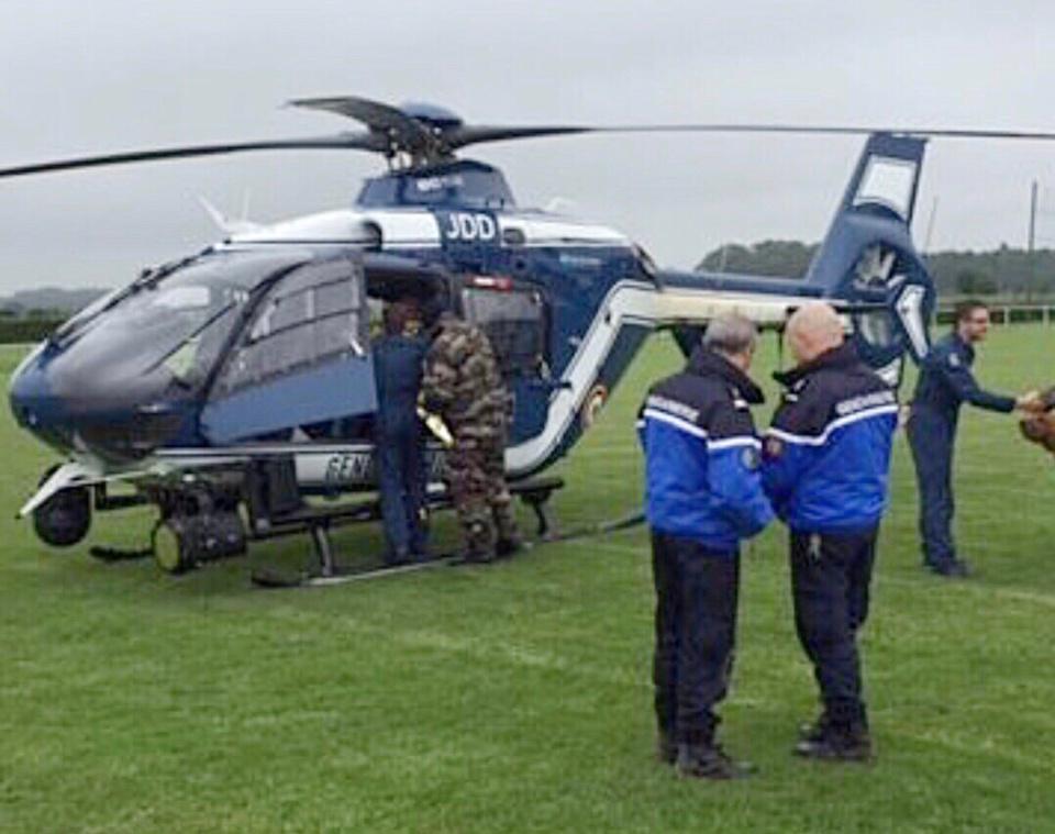 Un hélicoptère de la gendarmerie, équipé d'une caméra thermique, a prêté main forte dimanche aux militaires de la compagnie de Bernay - illustration © Gendarmerie/Facebook