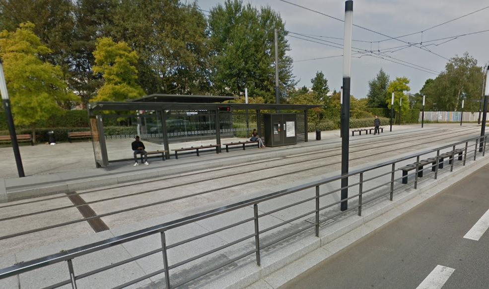 Le jeune homme a été contrôlé sans titre de transport à la station Robert-Schuman - illustration © Google Maps
