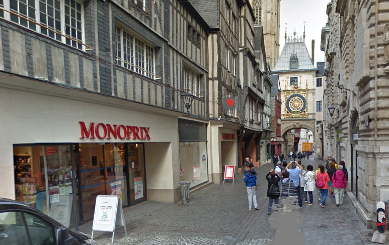 Rue du Gros-Horloge - illustration © Google Maps