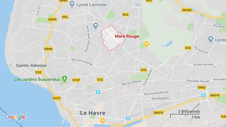 Le Havre : un local désaffecté ravagé par le feu à la Mare Rouge