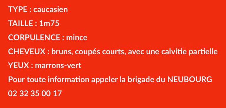 Disparition de Guillaume dans l'Eure : la gendarmerie lance un appel à témoin