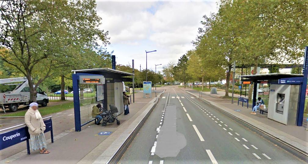 Les policiers procédaient à un contrôle à la station Teor, rue François-Couperin, sur les Hauts-de-Rouen
