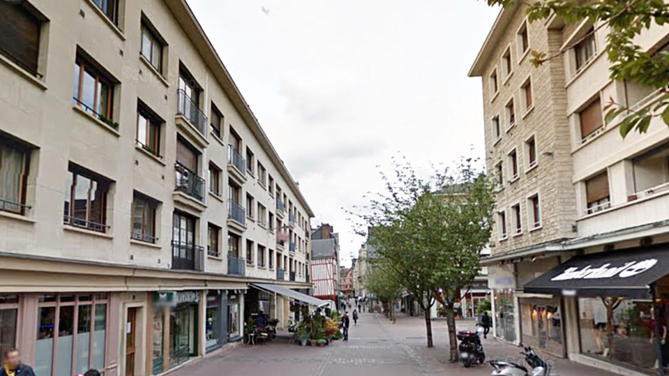 La rue Ganterie a Rouen - illustration