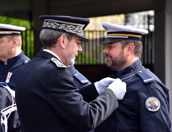 Le contrôleur général Philippe Trenec lors de la remise des médailles de la Police nationale - Photo @ DDSP76