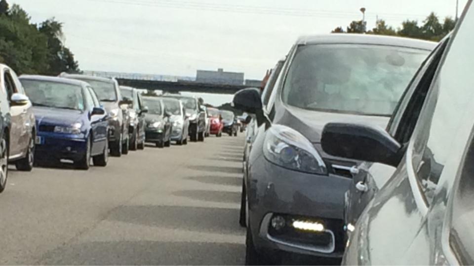 Le trafic vers la Normandie est très dense sur l'A13 ce mercredi soir - illustration @ infonormandie