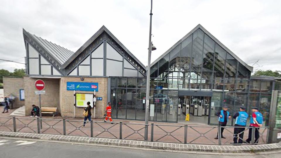 La gare de Conflans fin d'Oise - Illustration