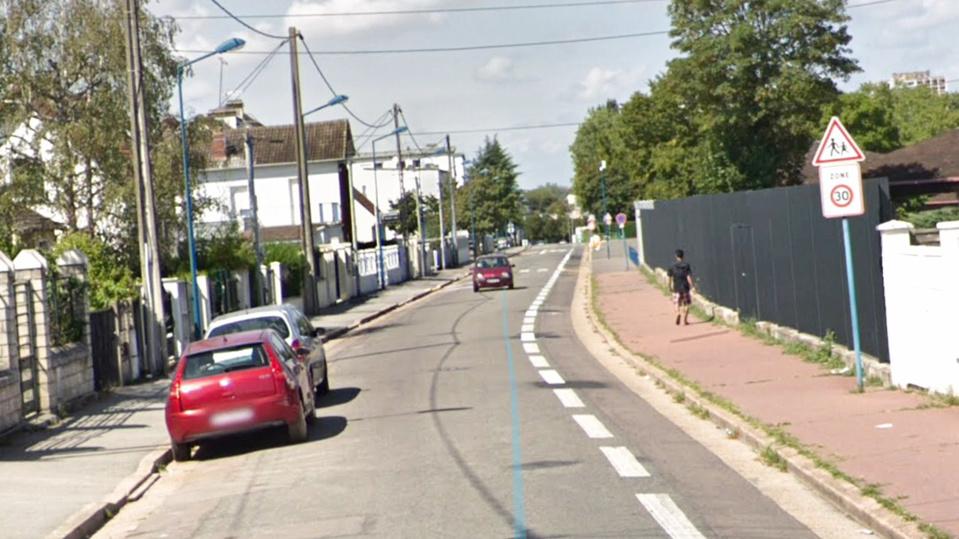 La rue Marcel Fouque est située entre le quartier de Gassicourt et celui du Val Fourré  - illustration @ Google Maps