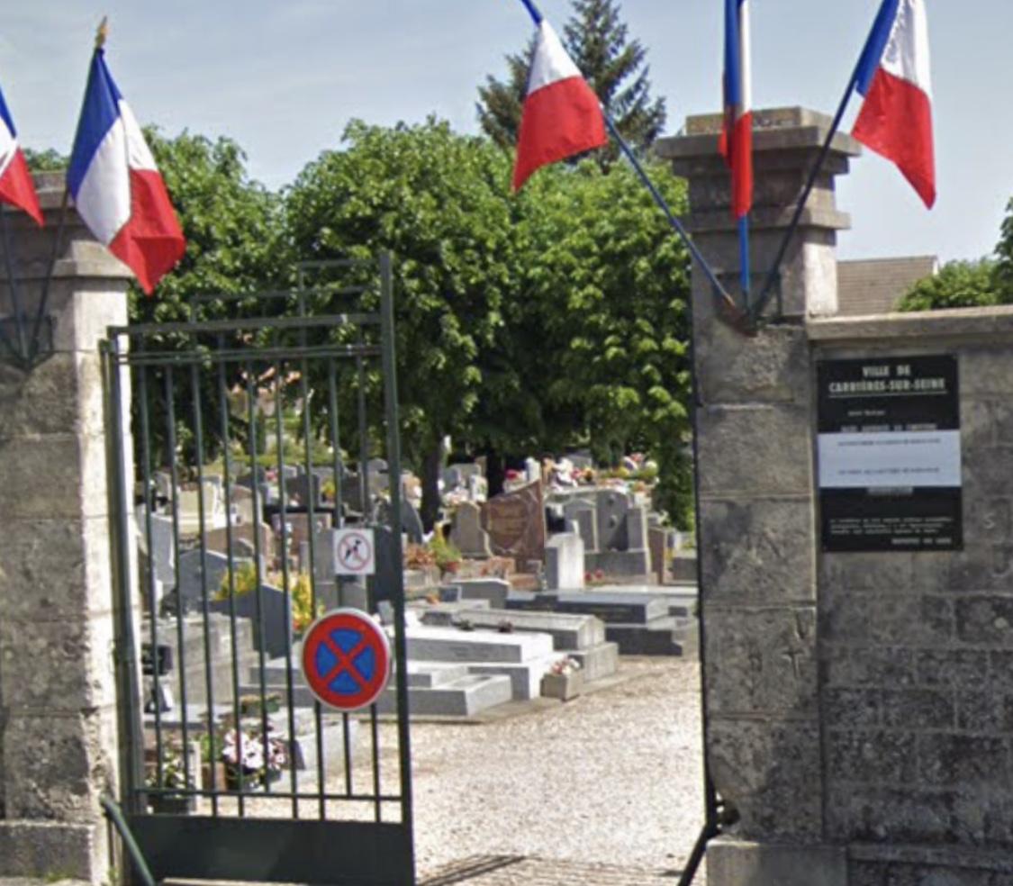 Les faits se sont déroulés dans le cimetière pendant un enterrement - illustration @ Google Maps