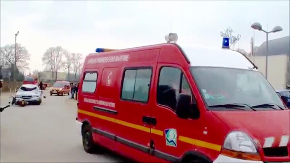 La victime a été transportée par les pompiers vers l'hôpital le plus proche - Illustration