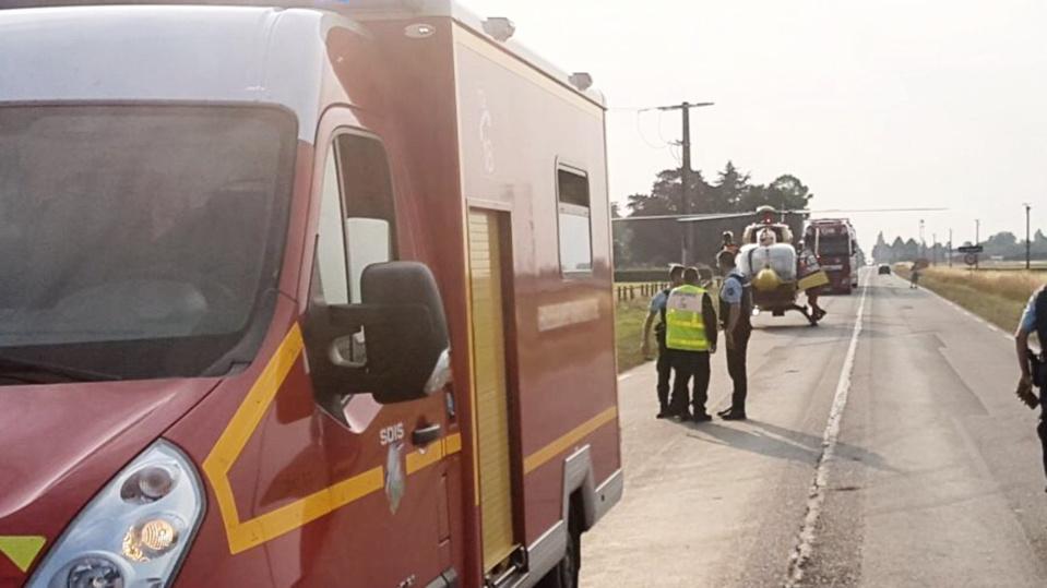 Le conducteur, grièvement blessé, a été héliporté vers l'hôpital d'Évreux - Illustration @ infonormandie
