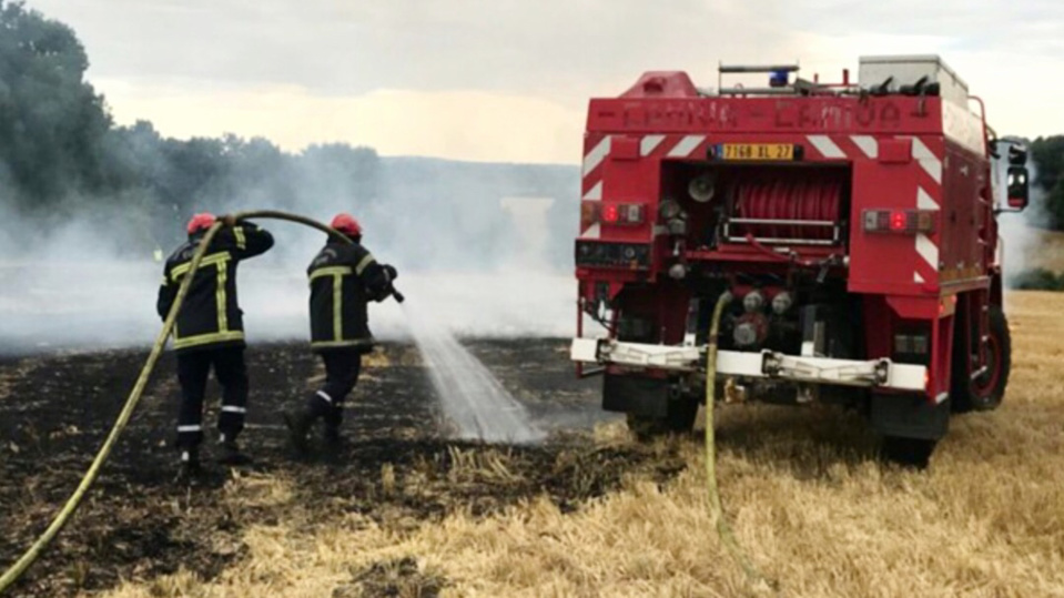 Une vingtaine de sapeurs-pompiers ont été mobilisés - Illustration @ infonormandie