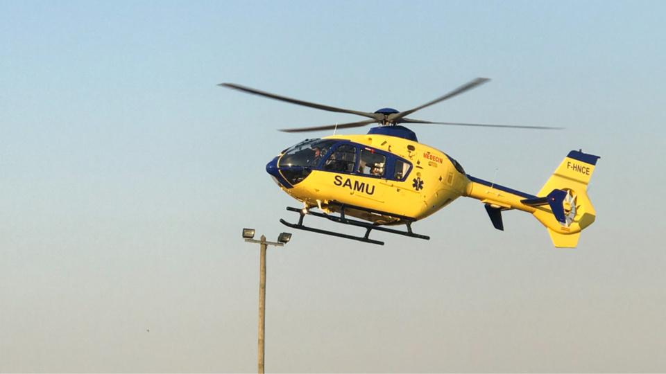 La victime a été héliportée par Viking76 vers le CHU de Rouen - Illustration @ infonormandie