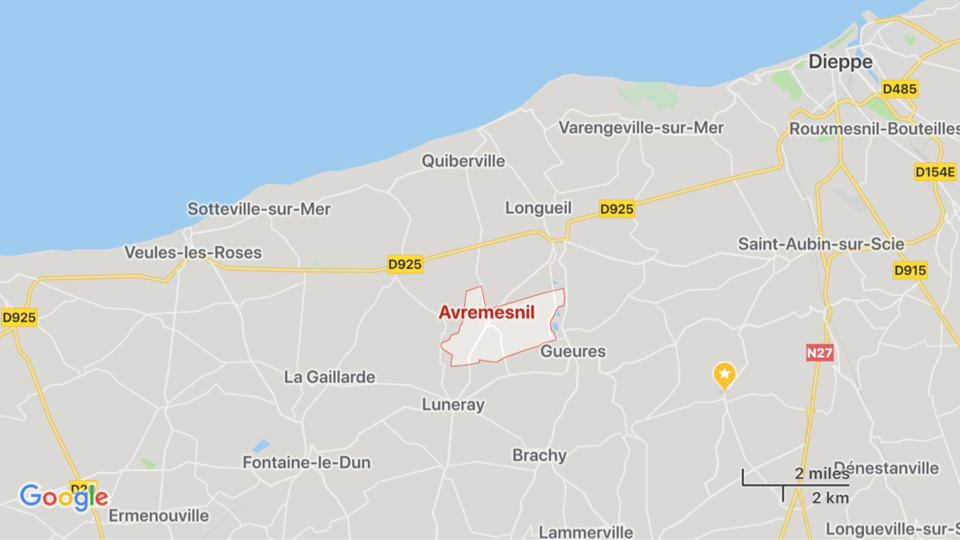 Seine-Maritime : collision entre une moto et une voiture à Avremesnil, deux blessés