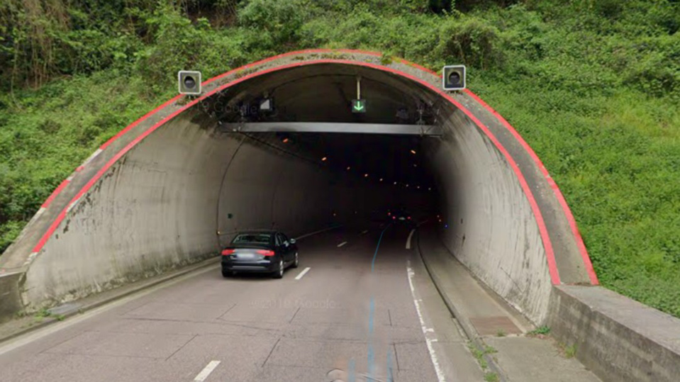 L'accident s'est produit dans le tunnel en direction de Rouen - Illustration @ Google Maps
