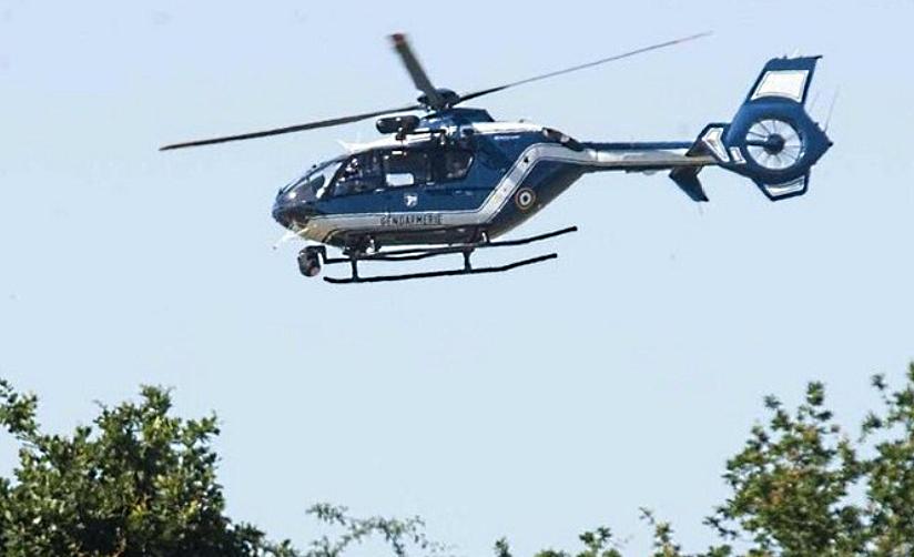 Le secteur a été passé au peigne fin par l'hélicoptère de la gendarmerie - illustration © gendarmerie