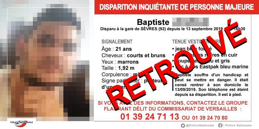 Disparition inquiétante dans les Yvelines : le corps de Baptiste retrouvé sans vie à Crespières