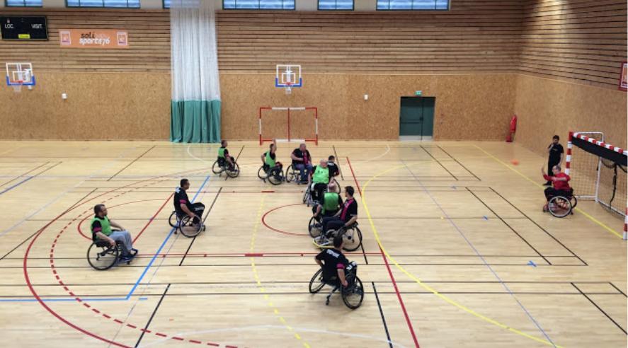 Les équipes sont composées de joueurs valides et handicapés  - Photo d'illustration  © HBC