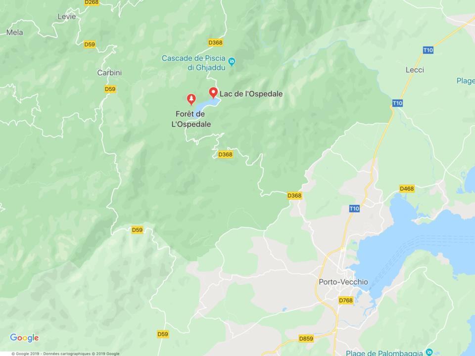 La voiture de location du couple a été découverte dans le massif de l'Ospedale, près de la cascade de Piscia di Ghjaddu