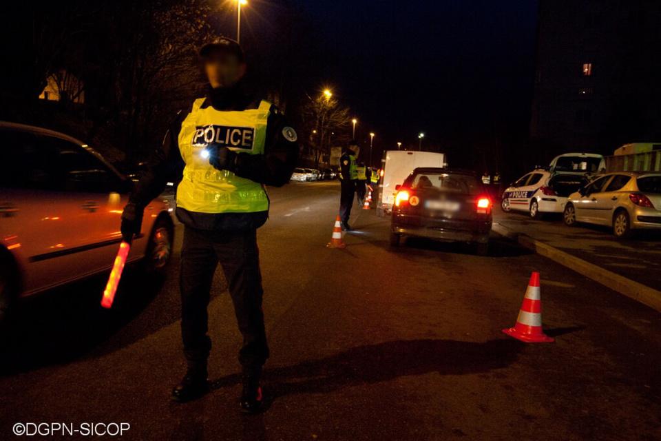 Le conducteur, ivre, a été interpellé lors d'un contrôle routier - illustration