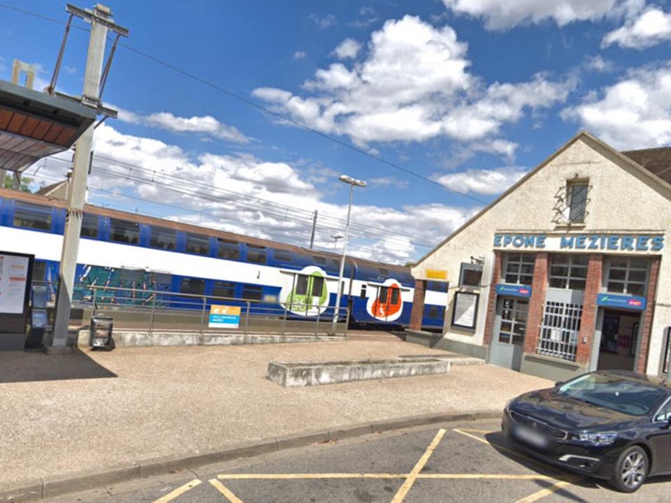 Les violences ont eu lieu à la gare d'Épône-Mézières - illustration