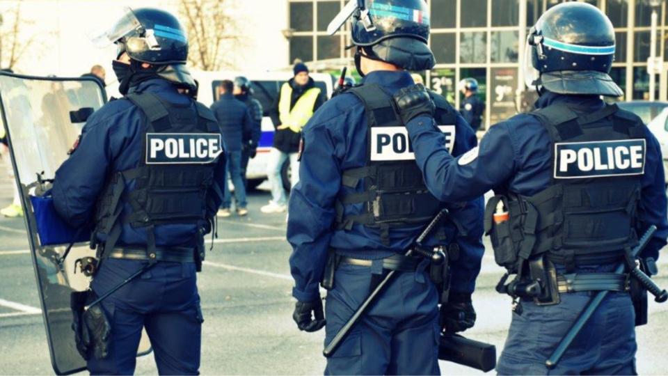 Au Havre, les forces de l'ordre ont évacué en fin d'après-midi un rond point près du stade Océane - illustration @ DDSP76