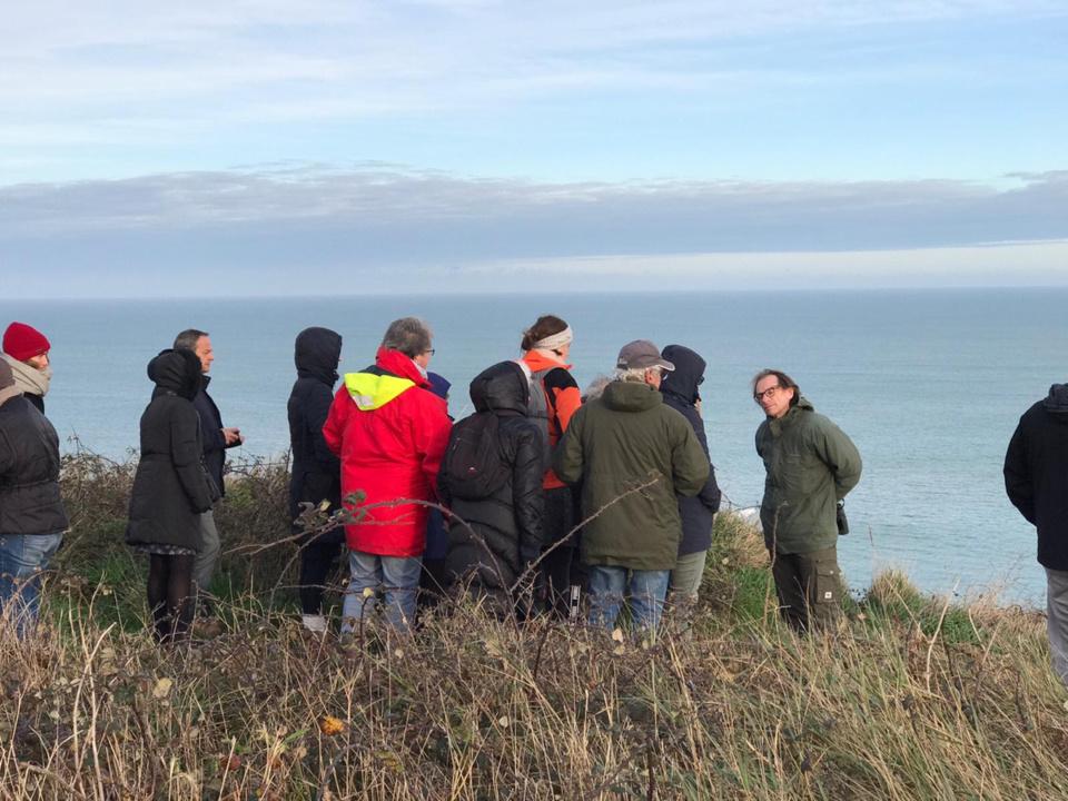 Balade ornithologique sur les falaises de Fécamp, c'était le 29 novembre dernier. La prochaine a lieu à Dieppe, samedi 14 décembre  - Photo © CNDP