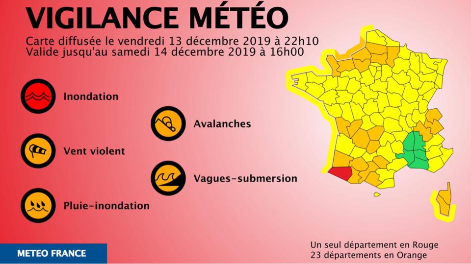Outre la Seine-Maritime et l'Eure, le Calvados et la Manche sont également en vigilance orange