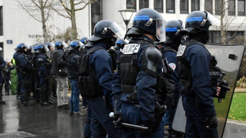 Les forces de l'ordre étaient en nombre à Rouen et au Havre -Illustration © DDSP76