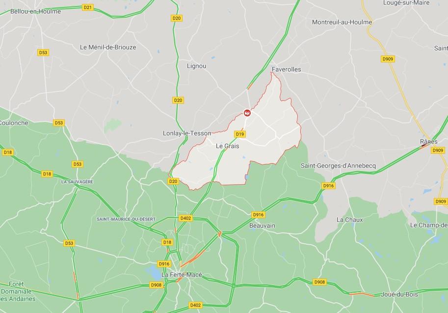 Terrible accident de la route dans l'Orne, près de La Ferté-Macé