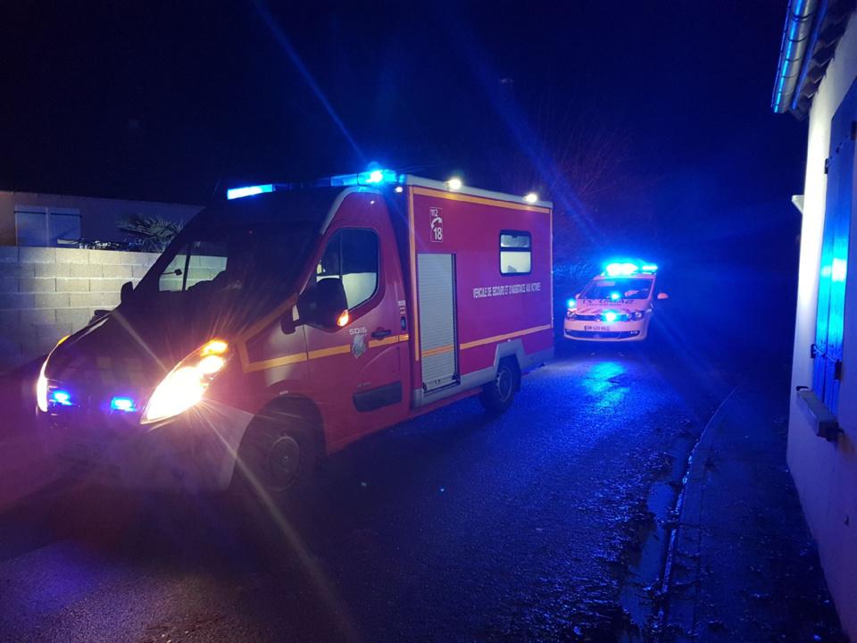 Une dizaine de sapeurs-pompiers sont intervenus pour porter assistance à la victime - Illustration